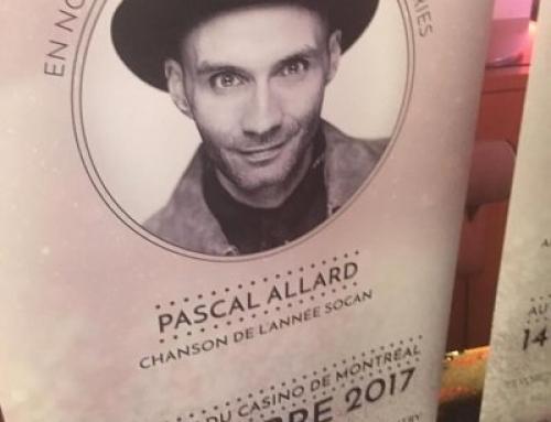 Pascal Allard en nomination !